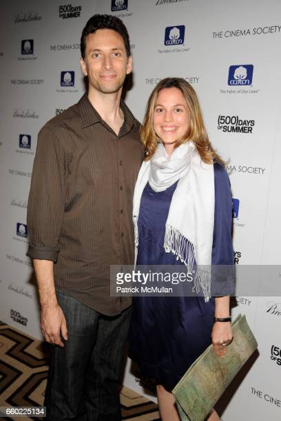 Ben Shenkman and Lauren Shenkman attend THE CINEMA SOCIETY with BROOKS BROTHERS COTTON host a screening of '500 DAYS OF SUMMER' at Tribeca Grand...