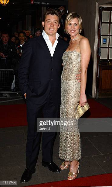 Actress Lisa Faulkner and an unidentified friend arrive for the British television show GMTV's 10th birthday celebration held at Madame Tussaud's...