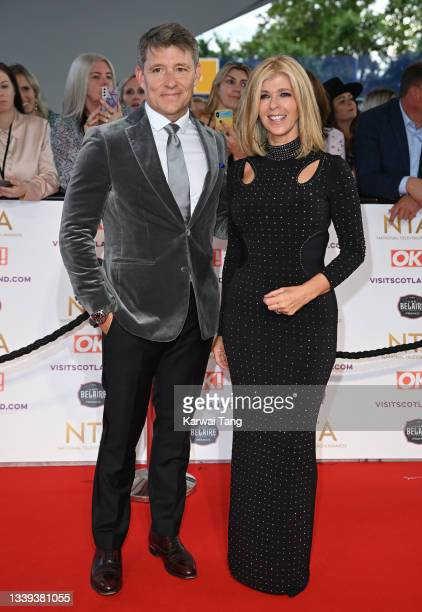 Ben Shephard and Kate Garraway attend the National Television Awards 2021 at The O2 Arena on September 09, 2021 in London, England.