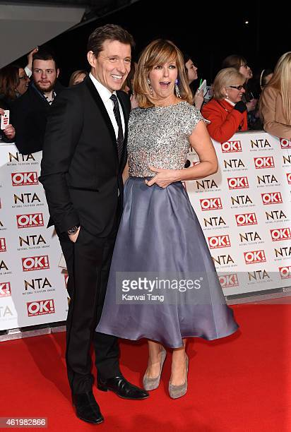 Ben Shephard and Kate Garraway attend the National Television Awards at 02 Arena on January 21 2015 in London England