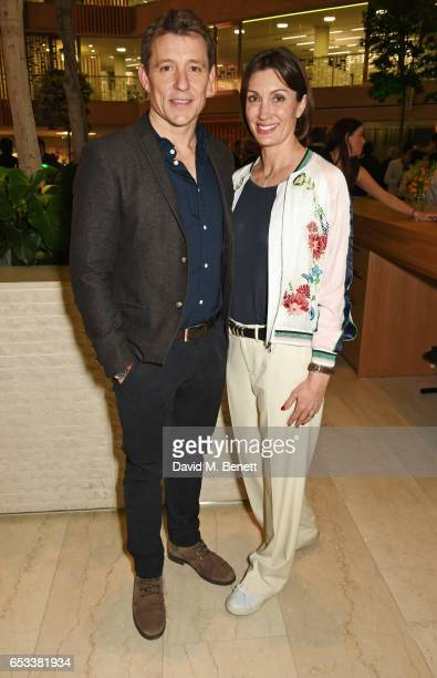 Ben Shephard and wife Annie Perks attend the press night after party for Stepping Out at the Coutts Bank on March 14 2017 in London England