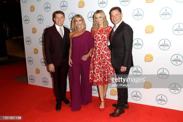 Ben Shephard Kate Garraway Charlotte Hawkins and Richard Arnold attend the Good Morning Britain 1 Million Minutes Awards at Studio Works on January...