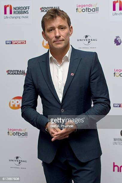 Ben Shepherd attends the 21st Legends of football event to celebrate 25 seasons of the Premier League and raise money for music therapy charity...