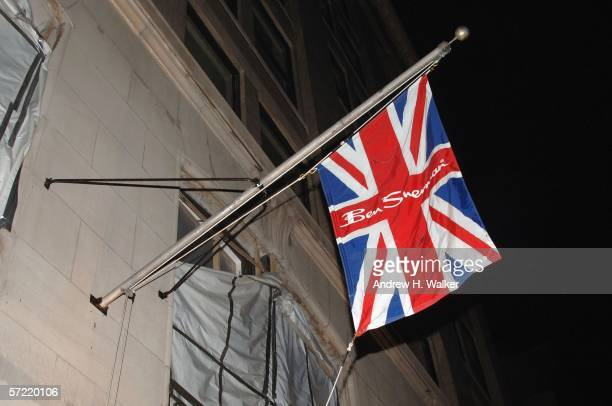Ben Sherman flag at it's first official US Flagship Store on March 30 2006 in New York City