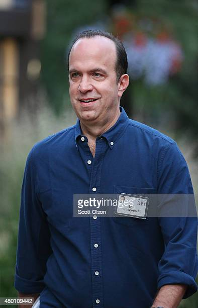 Ben Sherwood cochairman of Disney Media Networks and President DisneyABC Television Group attends the Allen Company Sun Valley Conference on July 9...