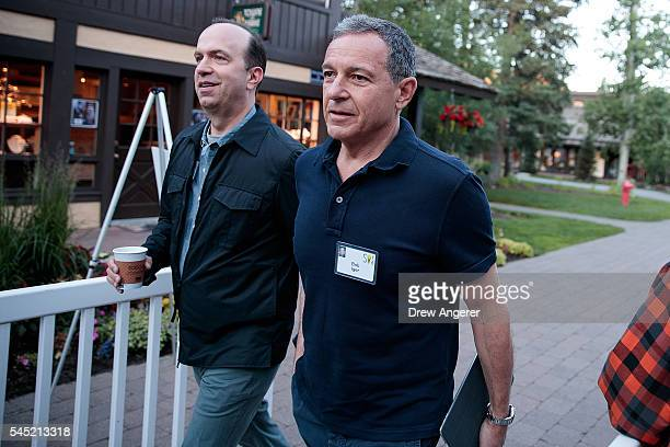 Ben Sherwood president of DisneyABC Television Group and Bob Iger chief executive officer of The Walt Disney Company attend the annual Allen Company...
