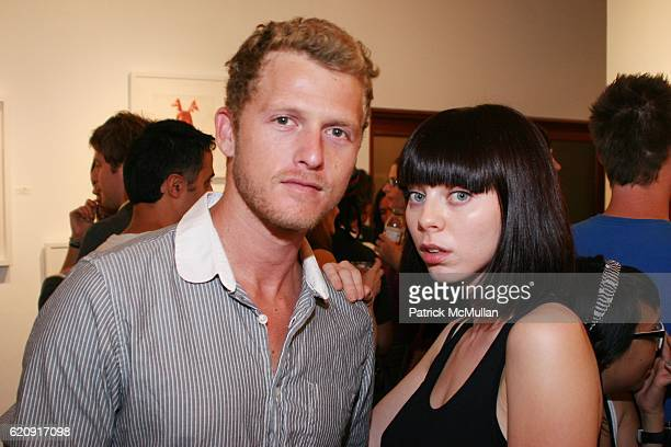 Ben Shulman and Alexi Wasser attend Whistling Past The Graveyard NEW WORKS BY MERCEDES HELNWEIN Hosted by Jason Lee at Merry Karnowsky Gallery on...