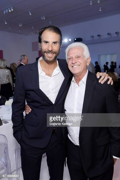Ben Silverman and Maurice Marciano attend LACMA 2017 Collectors Committee Gala at LACMA on April 22 2017 in Los Angeles California