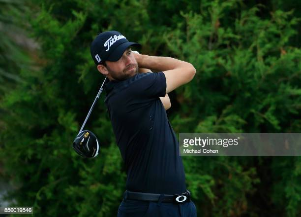 Ben Silverman hits his drive on the second hole during the third round of the Webcom Tour Championship held at Atlantic Beach Country Club on...
