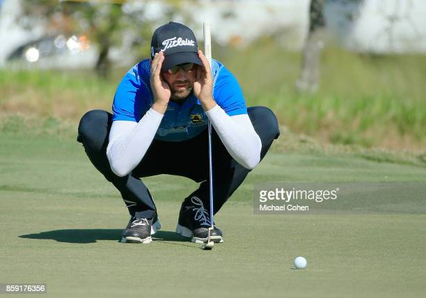 Ben Silverman lines up a putt during the second round of the Webcom Tour Championship held at Atlantic Beach Country Club on September 29 2017 in...