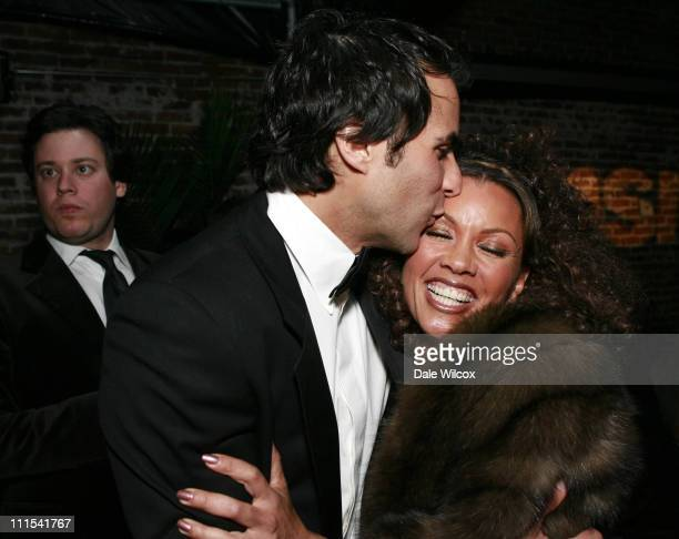 Ben Silverman of Reveille and Vanessa Williams during 'Ugly Betty' and 'The Office' 2007 Golden Globes After Party Inside at Les Deux in Hollywood...