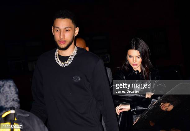 Ben Simmons and Kendall Jenner arrive to Marquee New York on February 14 2019 in New York City