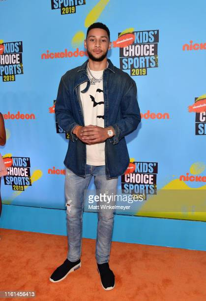 Ben Simmons attends Nickelodeon Kids' Choice Sports 2019 at Barker Hangar on July 11 2019 in Santa Monica California
