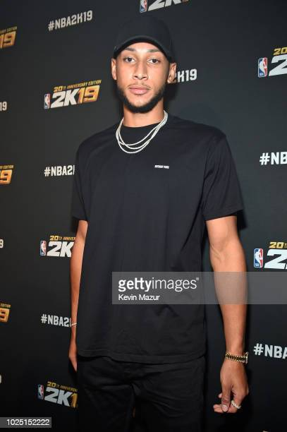 Ben Simmons attends the NBA 2K19 launch event at Greenpoint Terminal on August 29 2018 in New York City