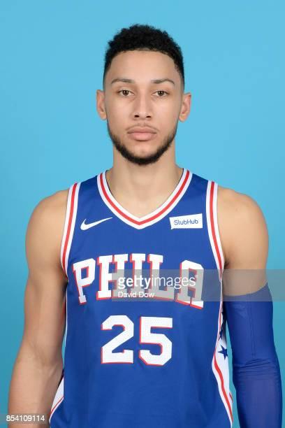 Ben Simmons of the Philadelphia 76ers poses for a head shot during media day at Wells Fargo Center in Philadelphia Pennsylvania on September 25 2017...