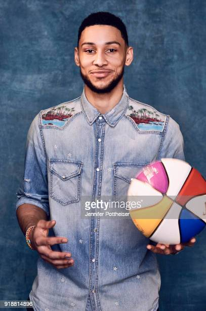 Ben Simmons of the Philadelphia 76ers poses for portraits during the NBAE Circuit as part of 2018 NBA AllStar Weekend on February 15 2018 at the JW...