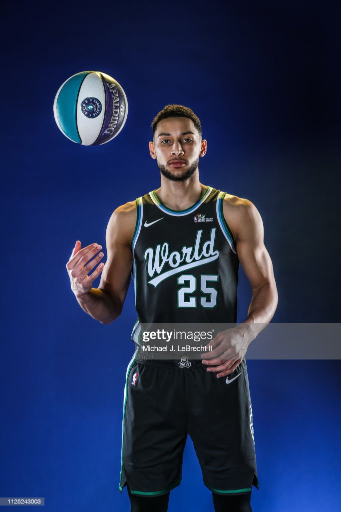 competitive price debb4 5dc6b Ben Simmons of the World Team poses for a Portrait prior to ...