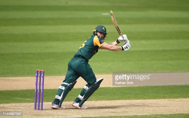 Ben Slater of Nottingham batting during the Royal London One Day Cup match between Warwickshire and Nottinghamshire at Edgbaston on April 23, 2019 in...