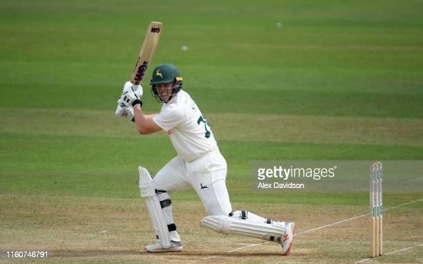 Ben Slater of Nottinghamshire bats during Day Two of the Specsavers County Championship Division One match between Somerset and Nottinghamshire at...