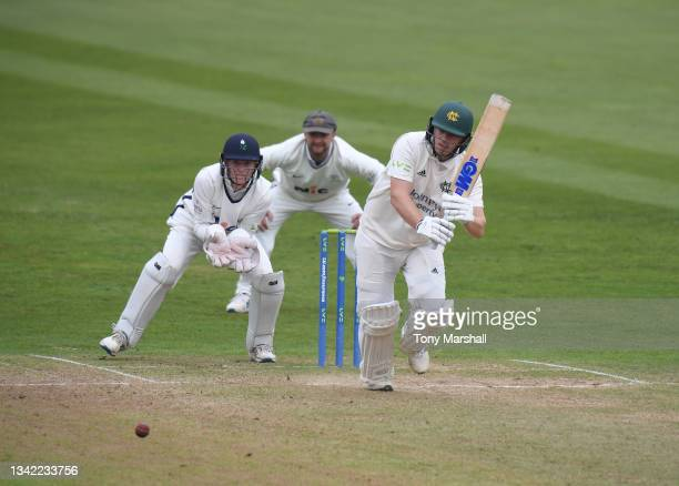 Ben Slater of Nottinghamshire bats during the LV= Insurance County Championship match between Nottinghamshire and Yorkshire at Trent Bridge on...