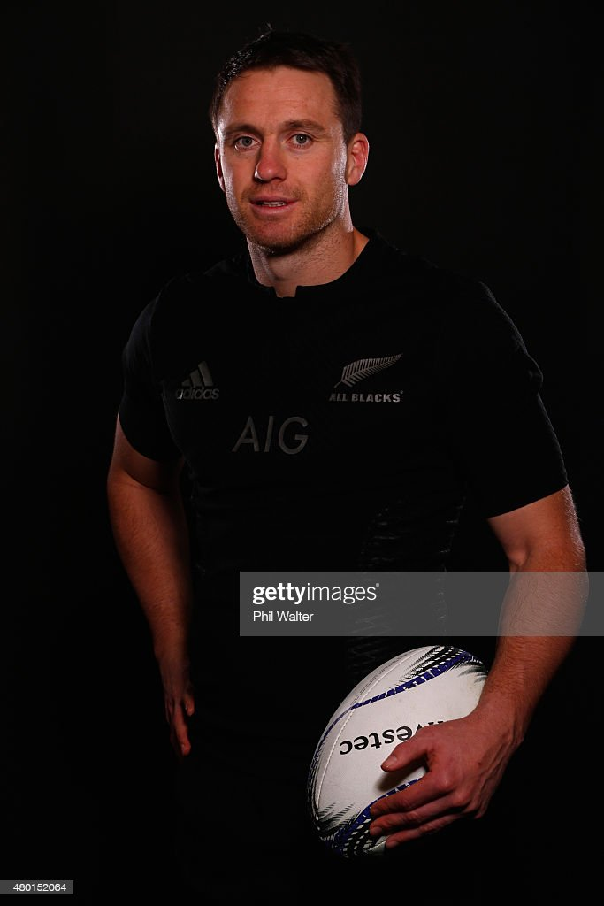 Ben Smith of the All Blacks poses for a portrait during a New Zealand All Blacks portrait session at the George Hotel on July 10, 2015 in Christchurch, New Zealand.