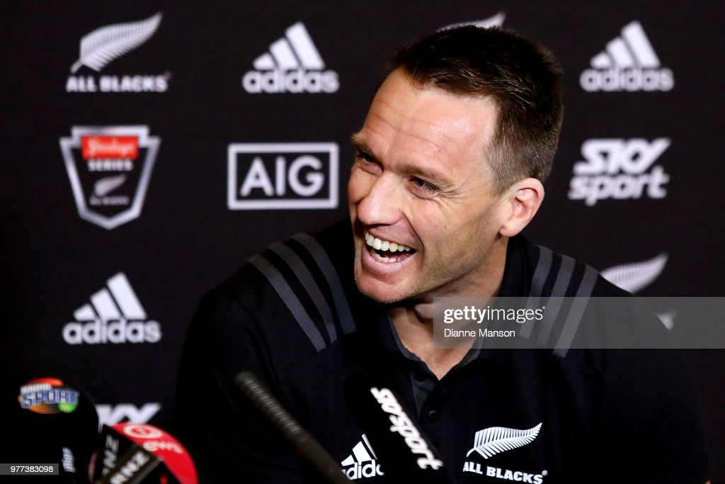 Ben Smith of the All Blacks speaks to the media during a New Zealand All Blacks press conference on June 18, 2018 in Dunedin, New Zealand.