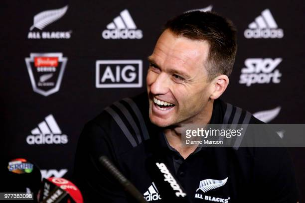 Ben Smith of the All Blacks speaks to the media during a New Zealand All Blacks press conference on June 18 2018 in Dunedin New Zealand