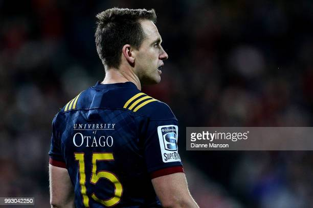 Ben Smith of the Highlanders looks on during the round 18 Super Rugby match between the Crusaders and the Highlanders at AMI Stadium on July 6 2018...