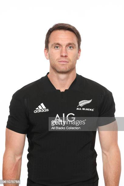 Ben Smith poses during a New Zealand All Blacks headshots session on May 21 2018 in Auckland New Zealand