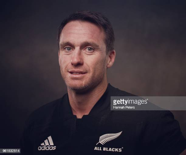 Ben Smith poses during a New Zealand All Blacks portraits session on May 21 2018 in Auckland New Zealand