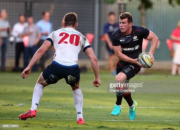 Ben Spencer of Saracens in action during the pre season friendly match between Saracens and London Scottish FC at Honourable Artillery Company on...