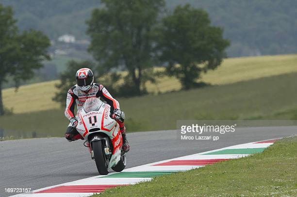 Ben Spies of USA and Ignite Pramac Racing Team heads down a straight during the MotoGp of Italy Free Practice at Mugello Circuit on May 31 2013 in...