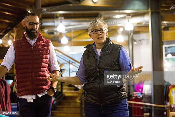 Ben Steele and Rachel Ligtenberg of Specialty Outdoor Retailer REI announce Black Friday closure at 143 stores nationwide with unveiling at Seattle...