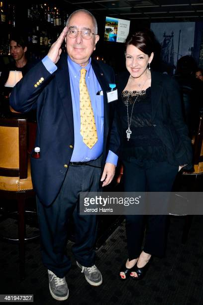 Ben Stein and Joely Fisher attend an evening with Azzedine Downes President and CEO of the International Fund for Animal Welfare at Porta Via...
