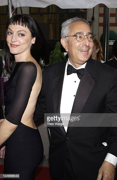 Ben Stein and Nancy Pimental during The 29th Annual Daytime Emmy Awards-Arrivals at Madison Square Garden in New York City, New York, United States.