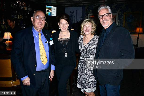 Ben Stein Joely Fisher VP of Communications for IFAW Donna Gadomski and Christopher Duddy attend an evening with Azzedine Downes President and CEO of...