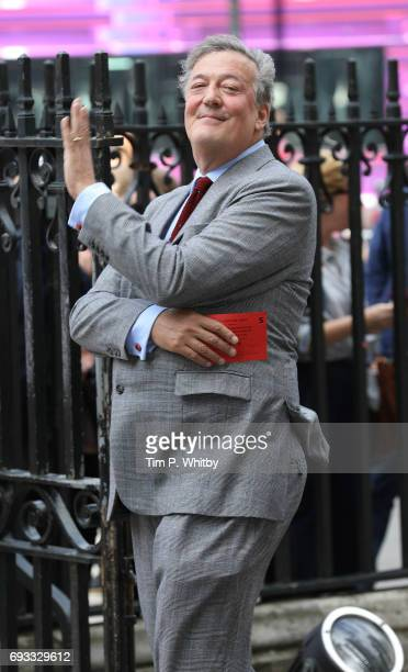 Ben Stephen Fry attends a memorial service for comedian Ronnie Corbett at Westminster Abbey on June 7, 2017 in London, England. Corbett died in March...