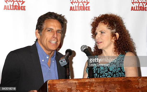 Ben Stiller and Amy Stiller attend 2016 Off Broadway Alliance Awards at Sardi's on June 21 2016 in New York City