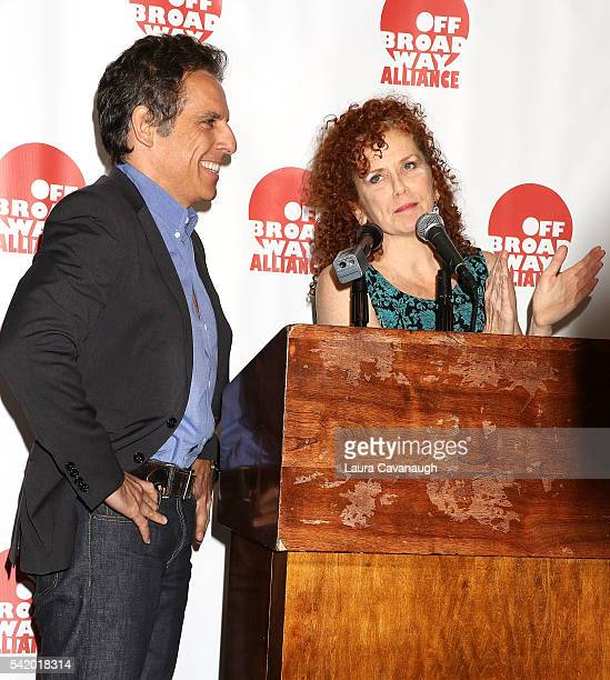 Ben Stiller and Amy Stiller attend 2016 Off Broadway Alliance Awards at Sardi's on June 21, 2016 in New York City.