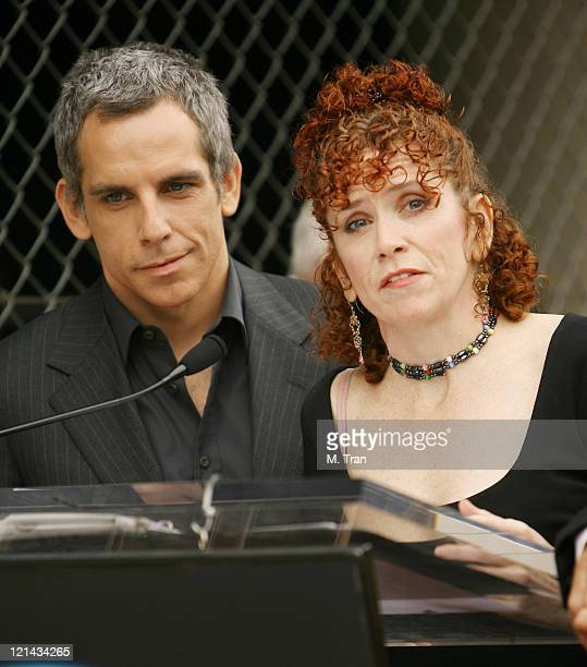 Ben Stiller and Amy Stiller during Jerry Stiller and Anne Meara Honored with a Star on the Hollywood Walk of Fame at 7018 Hollywood Blvd. In...