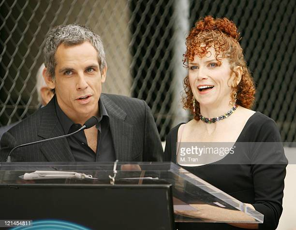 Ben Stiller and Amy Stiller during Jerry Stiller and Anne Meara Honored with a Star on the Hollywood Walk of Fame at 7018 Hollywood Blvd in Hollywood...