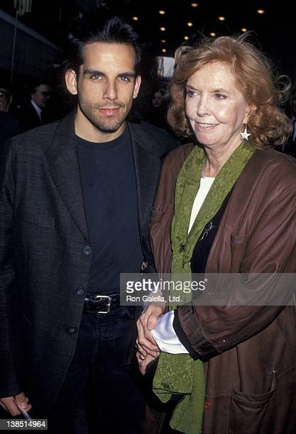 Ben Stiller and Anne Meara attend the opening of Passion on May 9 1994 at the Plymouth Theater in New York City