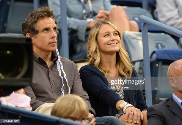 Ben Stiller and Christine Taylor attend the 2013 US Open at USTA Billie Jean King National Tennis Center on September 7 2013 in New York City