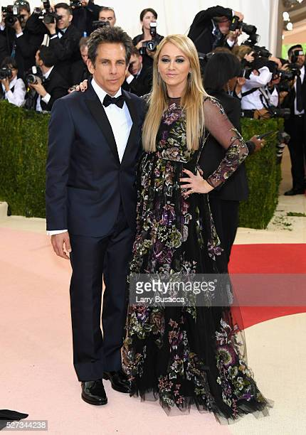 "Ben Stiller and Christine Taylor attend the ""Manus x Machina: Fashion In An Age Of Technology"" Costume Institute Gala at Metropolitan Museum of Art..."