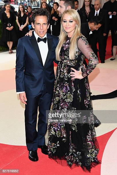 Ben Stiller and Christine Taylor attend the Manus x Machina Fashion In An Age Of Technology Costume Institute Gala at Metropolitan Museum of Art on...