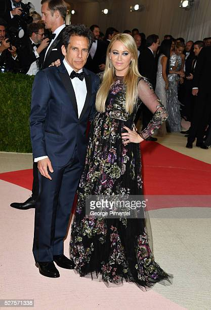 Ben Stiller and Christine Taylor attend the 'Manus x Machina: Fashion in an Age of Technology' Costume Institute Gala at the Metropolitan Museum of...