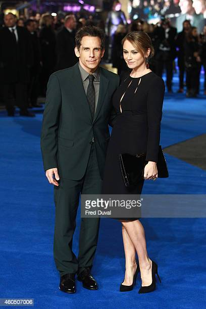 Ben Stiller and Christine Taylor attends the UK Premiere of Night At The Museum Secret Of The Tomb at Empire Leicester Square on December 15 2014 in...