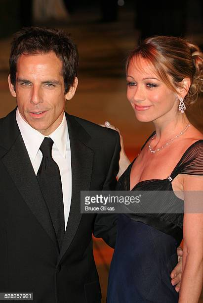 Ben Stiller and Christine Taylor during 2006 Vanity Fair Oscar Party at Morton's in West Hollywood California United States