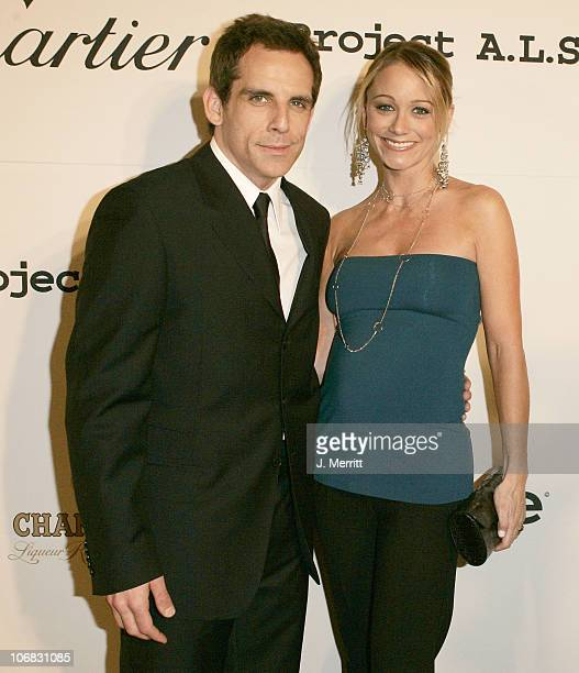Ben Stiller and Christine Taylor during 5th Annual Project ALS Benefit Gala Honoring Ben Stiller Hosted by Chambord Cocktail Room at The Westin...