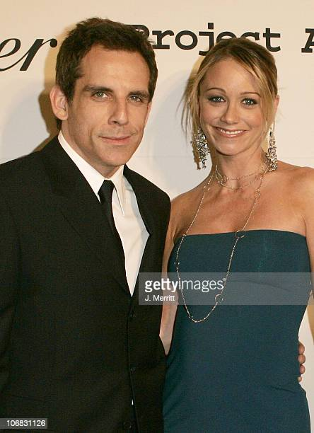 Ben Stiller and Christine Taylor during 5th Annual Project A.L.S. Benefit Gala Honoring Ben Stiller Hosted by Chambord - Cocktail Room at The Westin...